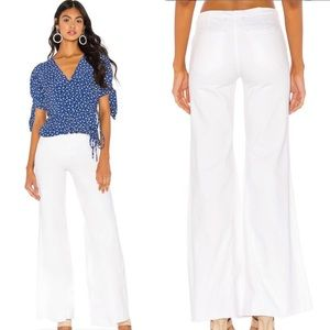 Free People White Drapey A Line Pull On Jeans $78
